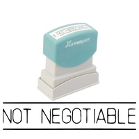 Stamp Pre-inked NOT NEGOTIABLE in black 1124 5011241 Xstamper - each