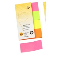 Pagemarkers Brilliant 20x50mm 4 Colours 160 sheets Paper Note Marbig