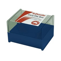 5x3 Card Box Directors Blue Esselte for  System Cards