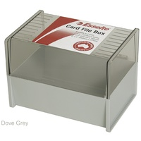 6x4 Card Box Dove Grey SWS 45868 Esselte
