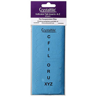 Suspension File Crystalfile Index Tabs ROUNDED AZ Blue 111542C Pack 60