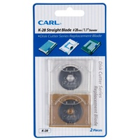 Carl Cutting Blade K28 Trimmer round blade for Carl DC200 DC210 DC230 DC250 - card of 2