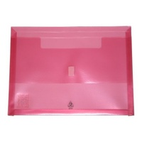 Polywally Wallet Colby A4 325A Pink 30mm gusset