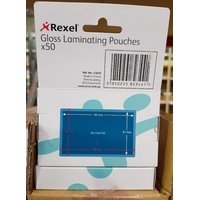 Laminating Pouch 63x98mm 150 micron pack 50 Key Card 41610 Rexel