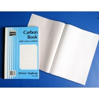 Plain Ruled Carbon Books A4 Duplicate 602 07312 - each