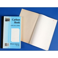 Plain Ruled Carbon Books 8x5 Duplicate 604 07230 - each