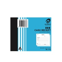 Cash Receipt Books 4x5 Duplicate 614 08073 - 100x125mm with carbon
