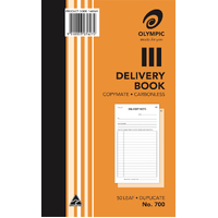 Delivery Books 8x5 Duplicate 700 Carbonless 07627 - each