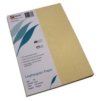 Paper Leathergrain A4 100gsm Ivory Pack 100 Quill