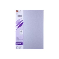 Binder Cover A4 285gsm Quill Metallique Silver Pack 25