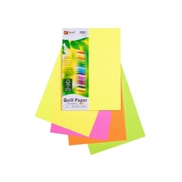 Paper A4 XL 80gsm Fluoro Colours Pack 100 90077 Quill Office Assorted