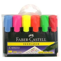 Highlighter Faber Textliner 48  Wallet 6 Solid Barrel Faber Castell