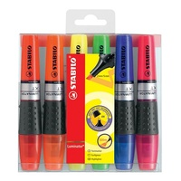 Highlighter Stabilo Boss Luminator pack 6 colours