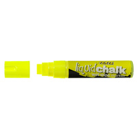 Liquid Chalk Marker Texta Jumbo Wet Wipe 15mm Yellow Card of 1 0388180