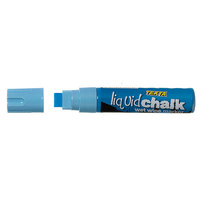 Liquid Chalk Marker Texta Jumbo Wet Wipe 15mm Blue Card of 1 0388200