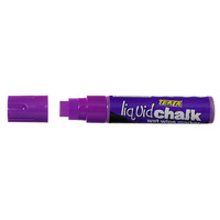 Liquid Chalk Marker Texta Jumbo Wet Wipe 15mm Purple Card of 1 0388230