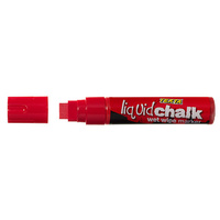 Liquid Chalk Marker Texta Jumbo Wet Wipe 15mm Red Card of 1 0388250