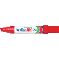 Marker Artline 100 Broad Tip Red box 6 Australia