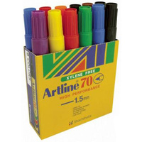 Marker Artline  70 Asst Box 12 Bullet Point Permanent Fine 1.5mm
