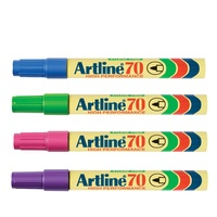 Marker Artline  70 Asst Box 12 Brights Bullet Point Permanent Fine Markers 1.5mm ** not normally stocked