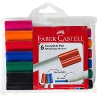 Whiteboard Markers Connector 6 Faber - pack 6