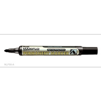 Markers Pentel NLF50A Perm Bullet Black Box 12 Maxiflow