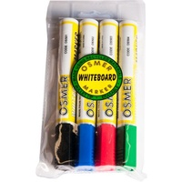 Whiteboard Markers Bullet point Assorted Wallet 4 Osmer OS519W