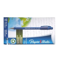 Pen Flexgrip Capped Medium Blue Box 12 Ultra 96101 Papermate 1.0