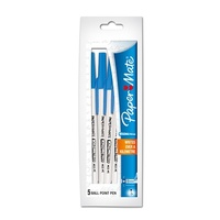 Pen Kilometrico BP Medium Blue Blister Pack of 5 Ballpoint Pens