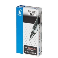 Pens Pilot V Ball Grip BLN VBG5 0.5 Extra Fine Black Box 12 RB