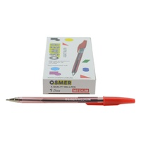 Pen Osmer Ballpoint Medium 1.0mm Red Box 12 OS73