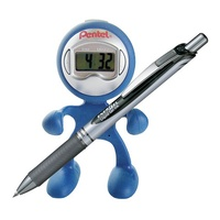 Pens Pentel BL77 Energel Retractable Rollerball Black Ink Blue Rollerboy