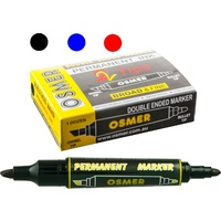 Marker Osmer Double Ended Permanent Black OS1701 Box 12