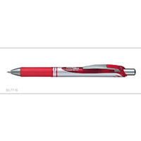 Pen Pentel Energel BL77B Red Retractable Rollerball Box 12