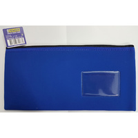 Pencil Case Osmer Neoprene 34 x 17cm 1 Zip Name Insert Blue N3417B1