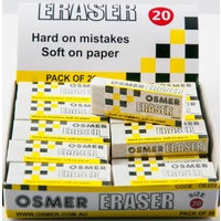 Eraser  Large x20 Osmer OE222 Box 20