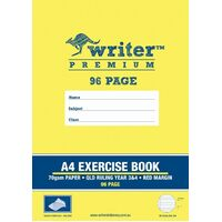 Exercise Books A4 96 Page Qld Year 3/4 Pack 20 Writer Premium EB6535 EY39 queensland only