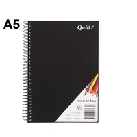 Visual Art  Diary A5 White page 60L bulk discounts 110gsm 120 pages Quill SWVA5
