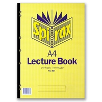 Lecture Pad A4 140 page pack 10 907 42418 side glued
