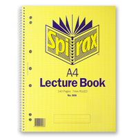 Lecture Book A4 140 page Spirax 906 - pack 10