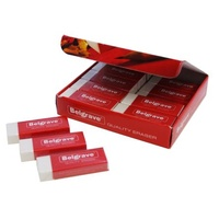 Eraser for Office and Student white Belgrave ER1- box 20