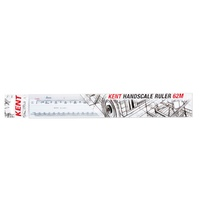 Scale Ruler 300mm Double Sided Handscale 62M - 1:1 5 10 100 20 200 50 500