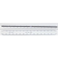 Scale Ruler 300mm Double Sided Handscale 64M - 1:125 1250 250 2500 400 4000 800 80