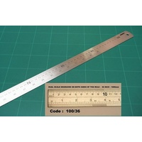 Ruler Osmer Stainless Steel Metric Imperial 100cm 36 Inch