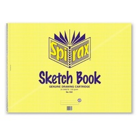 Sketch Book Spirax 532 A2 422 x 594mm Pack 5  Side Opening 20 Leaf