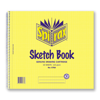 Spirax 578A Sketch Book 247x270mm Pack 10 Side Opening 32 Leaf