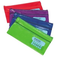 Pencil Case John 325x180mm Name 2 zip Marbig 9743999 - each