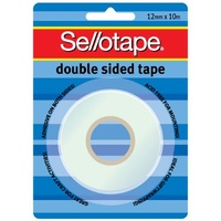 Double Sided Tape Sellotape 104 12x10m Hangsell 960600 12mm wide