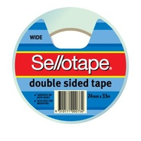 Tape Double Sided Sellotape 24x33m 404 960606 - per roll