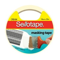 Masking Tape Sellotape 18mm x 50M 125A Hangsell 960502